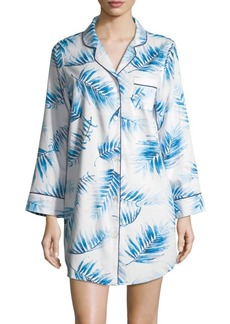 Saks Fifth Avenue COLLECTION Palm Sateen Sleep Shirt