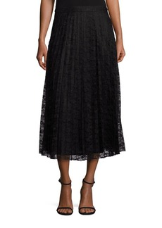 Saks Fifth Avenue Collection Pleated Lace Midi Skirt