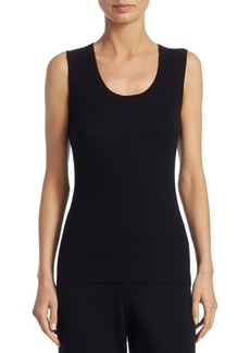 Saks Fifth Avenue Ribbed Scoopneck Cashmere Tank Top