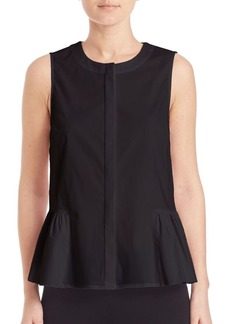 Saks Fifth Avenue Sleeveless Hi-Lo Blouse