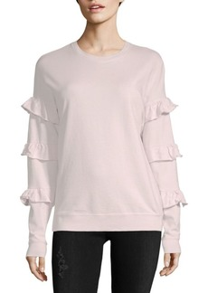 Saks Fifth Avenue COLLECTION Ruffle Sleeve Cotton Sweatshirt