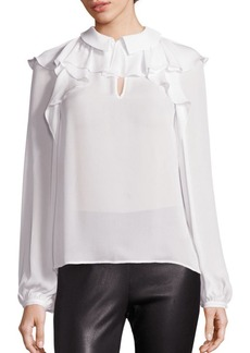 Saks Fifth Avenue COLLECTION Ruffle Neck Blouse