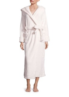 Saks Fifth Avenue Silk Wrap Hooded Robe