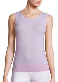 Saks Fifth Avenue COLLECTION Sleeveless Cashmere Shell