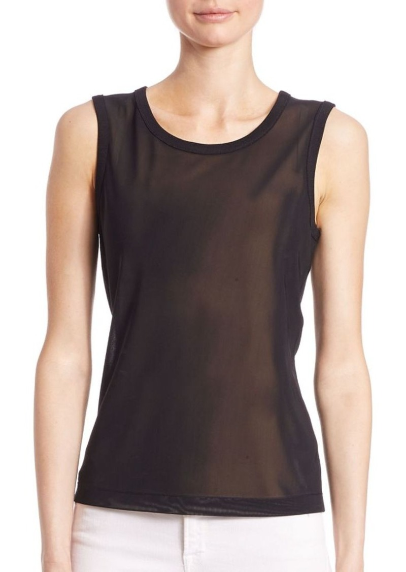 Saks Fifth Avenue COLLECTION Roundneck Mesh Top