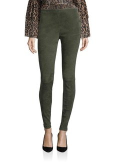 Saks Fifth Avenue COLLECTION Classic Suede Leggings