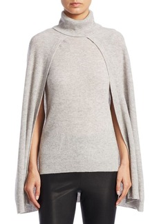 Saks Fifth Avenue COLLECTION Turtleneck Layered Cape