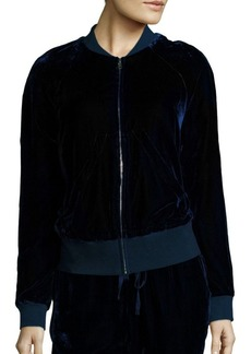 Saks Fifth Avenue Collection Velvet Bomber Jacket
