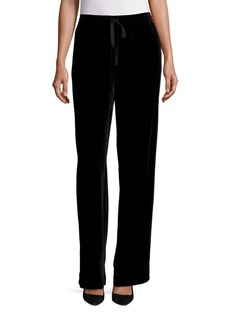Saks Fifth Avenue COLLECTION Velvet Drawstring Pant
