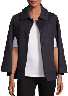 Saks Fifth Avenue COLLECTION Wool Point Collar Cape