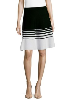 Saks Fifth Avenue Colorblock A-Line Skirt
