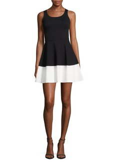 Saks Fifth Avenue Colorblock Fit-&-Flare Dress