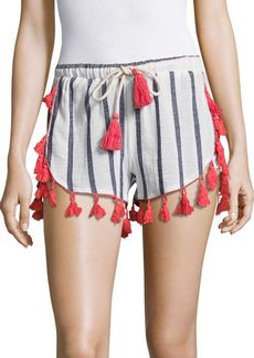 Saks Fifth Avenue BLUE Contrast Tassel Shorts