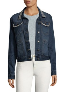 Saks Fifth Avenue Cotton Faux Pearl Jacket