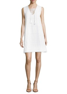 Saks Fifth Avenue Cotton Scalloped Dress