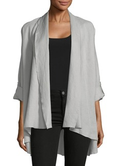 Saks Fifth Avenue Crinkle Drape-Front Jacket