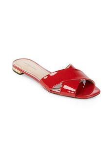Saks Fifth Avenue Criss Cross Leather Slides