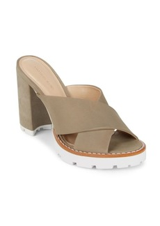 Saks Fifth Avenue Crisscross Leather Sandals