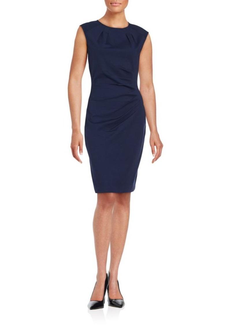 Saks Fifth Avenue BLACK Cynthia Solid Sheath Dress