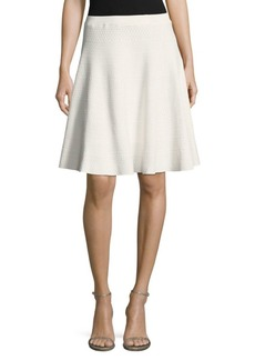 Saks Fifth Avenue Debossed Ruffled Skirt