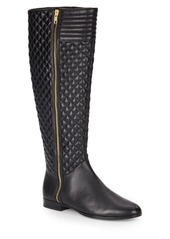 Saks Fifth Avenue Diamond Quilted Leather Boots