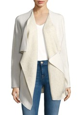 Saks Fifth Avenue BLUE Double-Faced Open Front Jacket