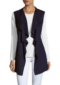Saks Fifth Avenue BLUE Draped Foldover Jacket