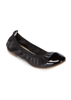 Saks Fifth Avenue Elasticized Leather Ballet Flats