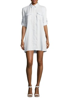 Saks Fifth Avenue Elenor Solid Point-Collar Shirtdress