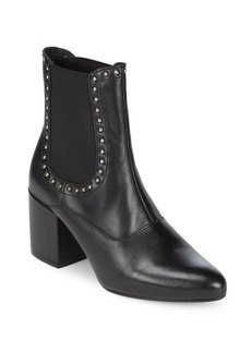 Saks Fifth Avenue Embellished Tumbled Leather Chelsea Boots