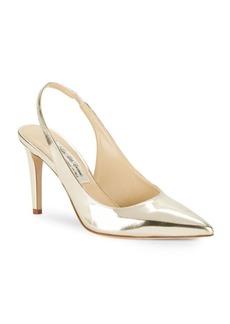 Saks Fifth Avenue Made in Italy Emilia Leather Slingback Stilettos