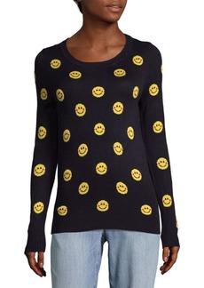 Saks Fifth Avenue Emoticon Print Sweater