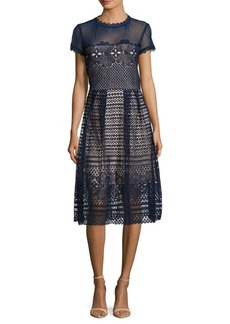 Saks Fifth Avenue Eyelet Midi Dress