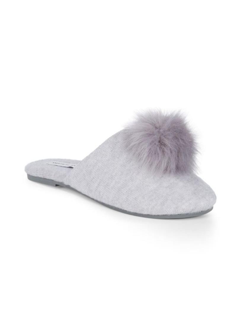 Saks Fifth Avenue Faux Fur Pom Slippers