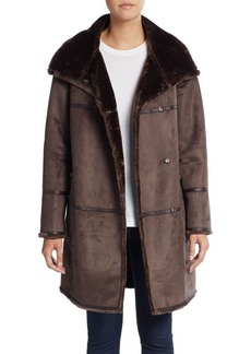 Saks Fifth Avenue Faux Shearling Coat