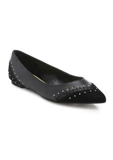 Saks Fifth Avenue Fiona Studded Leather Flats
