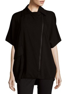 Saks Fifth Avenue Fleece Biker Poncho