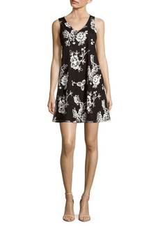 Saks Fifth Avenue Floral A-Line Dress