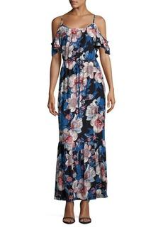 Saks Fifth Avenue Floral Cold Shoulder Dress