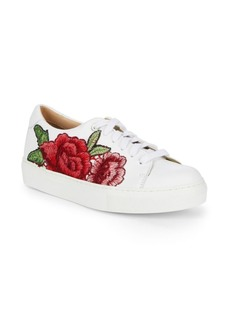 Saks Fifth Avenue Floral Leather Sneakers
