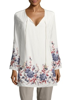 Saks Fifth Avenue Floral-Print Long-Sleeve Dress