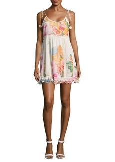 Saks Fifth Avenue BLUE Floral Print Mini Dress