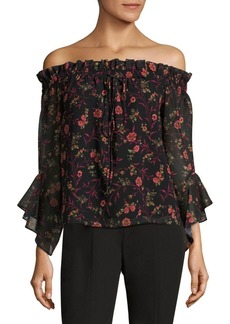 Saks Fifth Avenue Floral-Print Off-The-Shoulder Blouse
