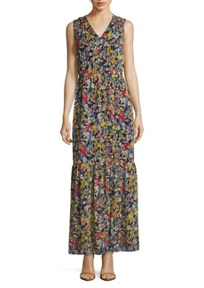 Saks Fifth Avenue Floral-Print Sleeveless Dress