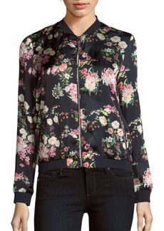 Saks Fifth Avenue RED Floral Printed Bomber Jacket