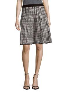 Saks Fifth Avenue BLACK Floral Printed Skirt