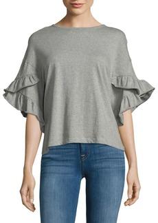 Saks Fifth Avenue Flounce Cotton Top