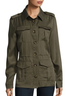 Saks Fifth Avenue Four Pocket Army Jacket