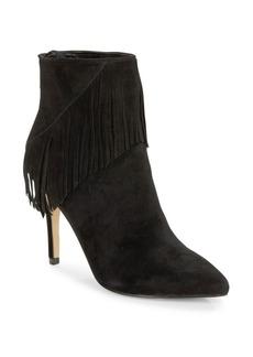 Saks Fifth Avenue Fringe Tassel Suede Boots