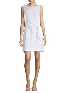 Fringe-Trimmed Linen Shift Dress